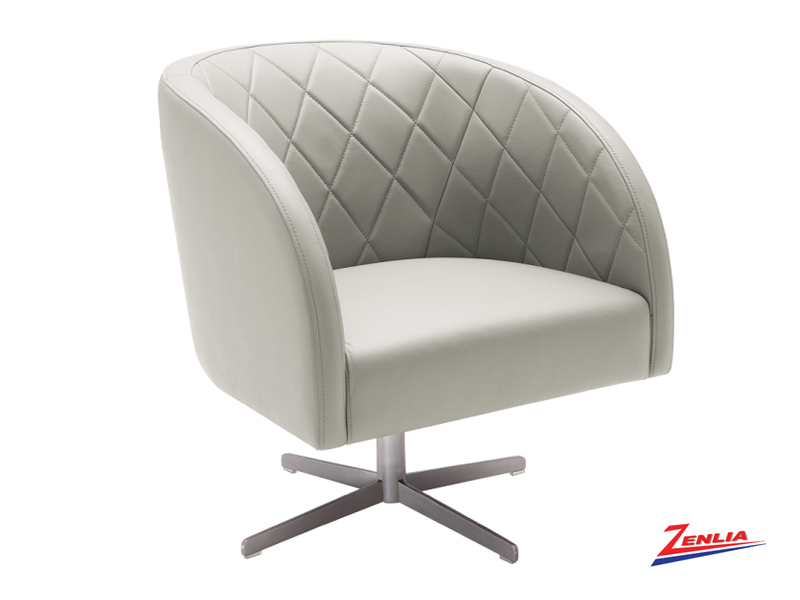 Boule Grey Leather Chair