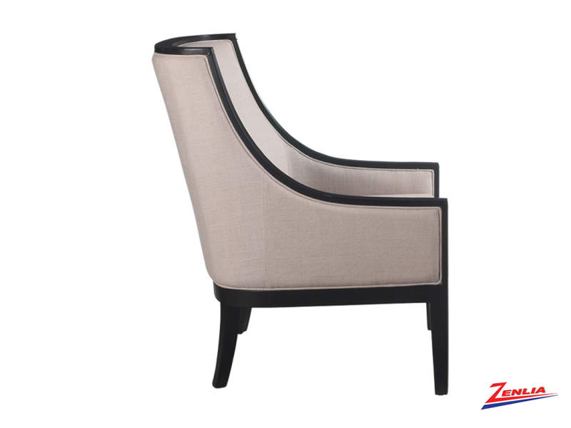 Cyra Armchair Linen Fabric Accent Chairs Accent Chairs