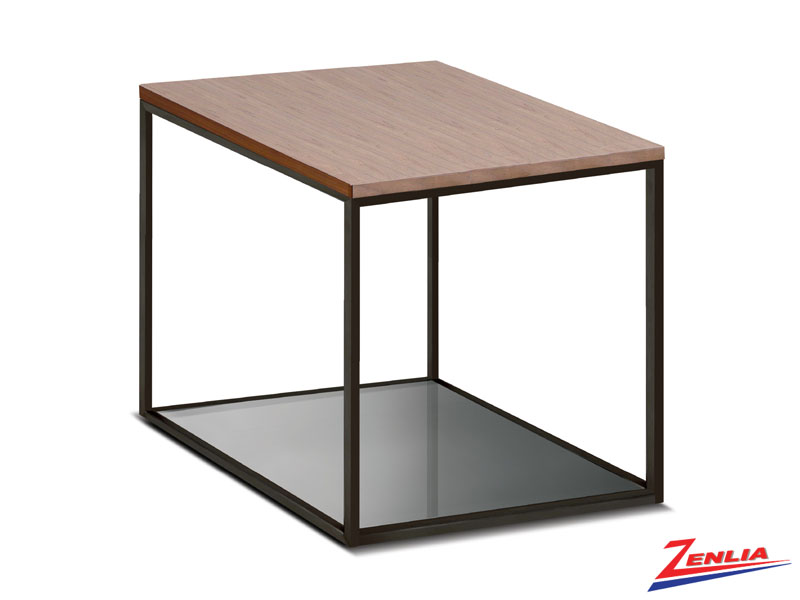 Ann Large Walnut Top End Table