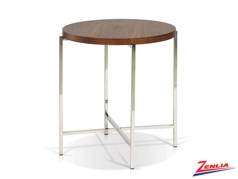 Berg Walnut Top End Table