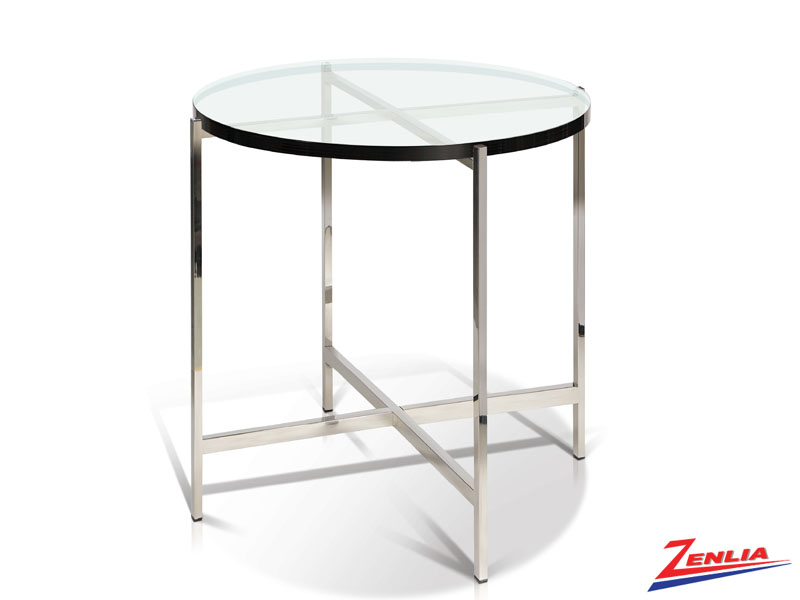 Berg Glass Top End Table
