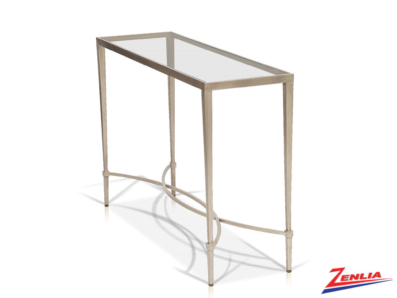 Mitz Champagne Console Table