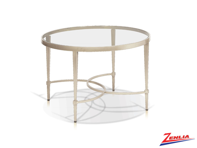 Mitz Champagne Round Coffee Table