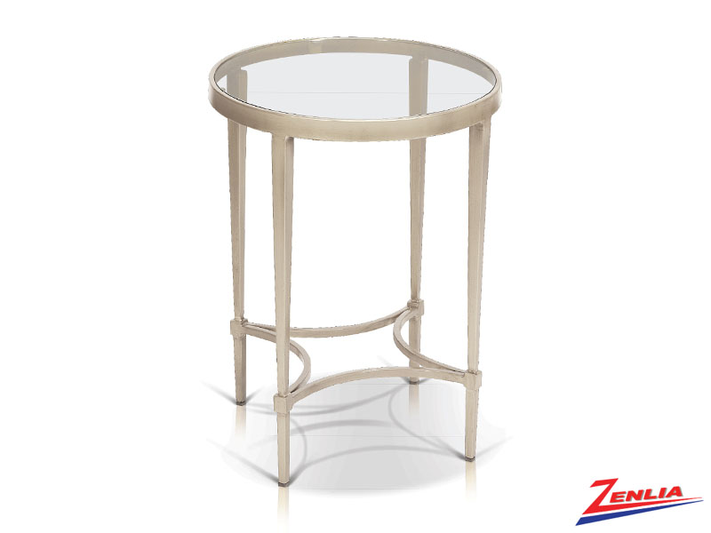 Mitz Champagne End Table