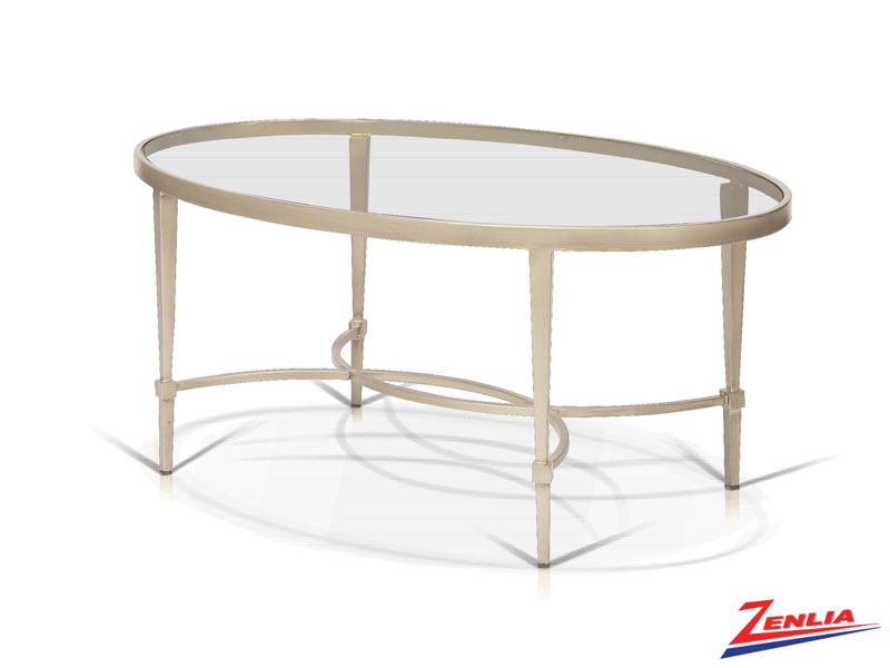 Mitz Champagne Oval Coffee Table