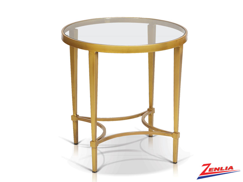 Mitz Gold End Table