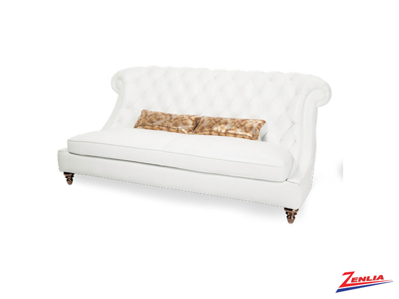 Dama White Leather Collection
