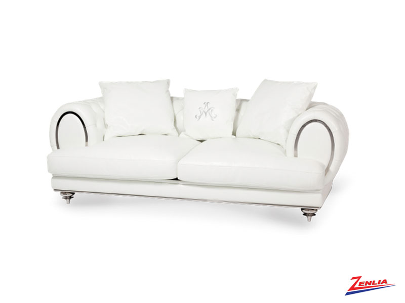 Ell Leather White Sofa Collection