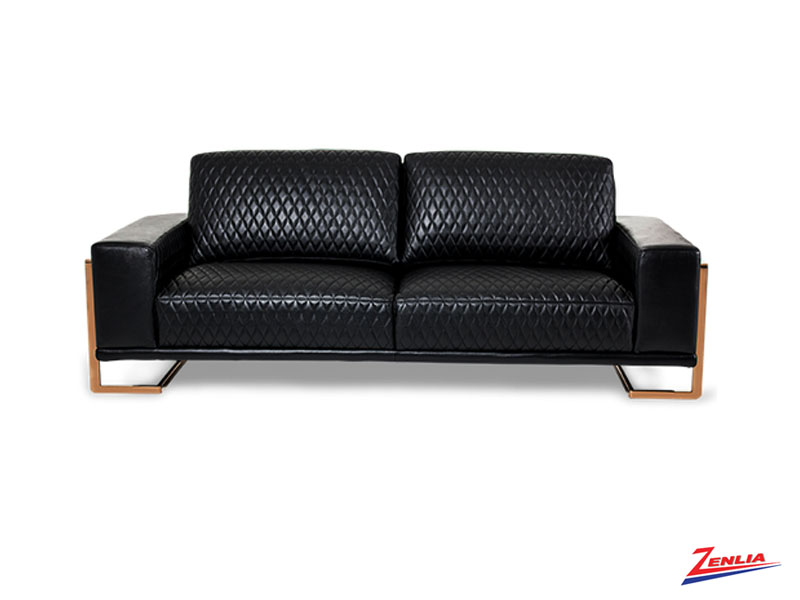 Gia Black Leather Sofa Collection