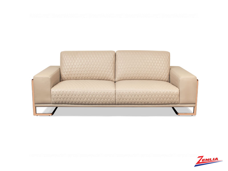 Gia Peach Leather Sofa Collection