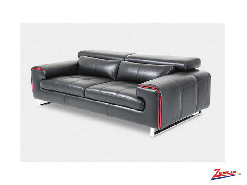 Mag Black Leather Sofa Collection