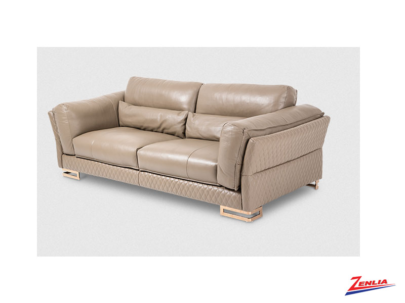 Mon Taupe Leather Sofa Collection