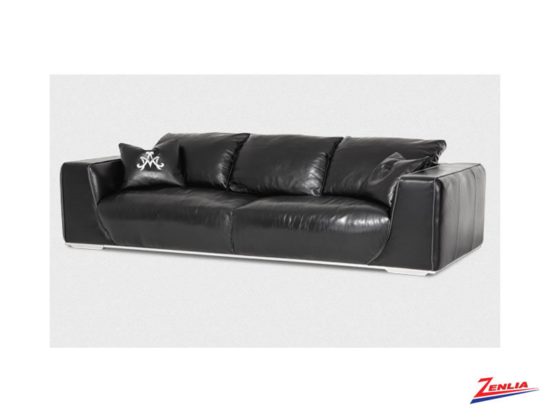 Soph Onyx Leather Sofa Collection