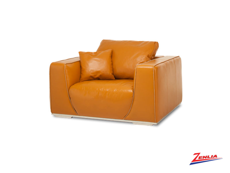 Leather Furniture Traveler Collection: Soph Tangerine Leather Sofa Collection