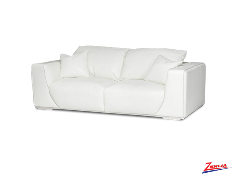 Soph White Leather Sofa Collection