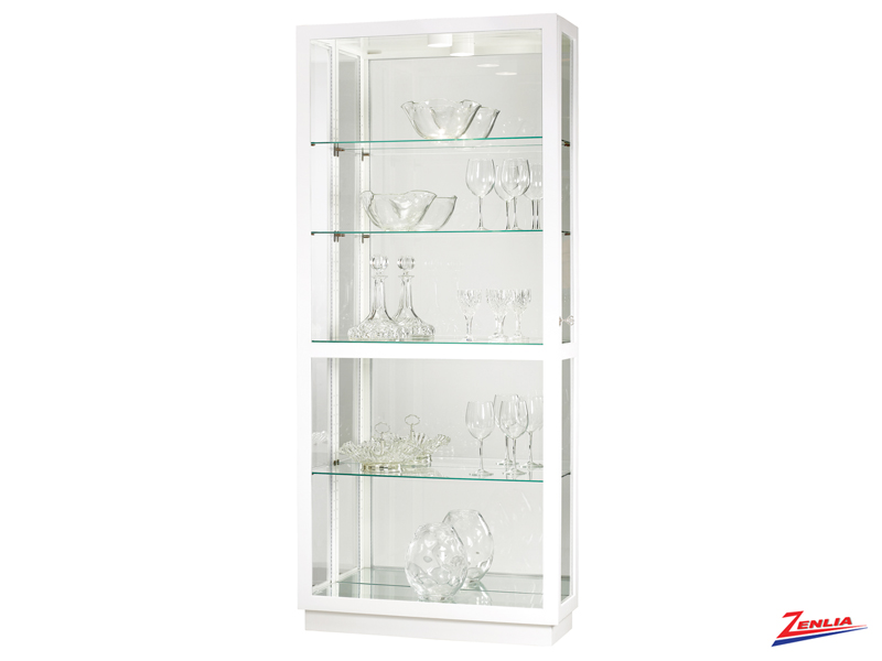 Jay 14 Gloss White Finish Curio