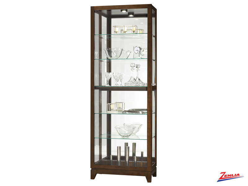 Luk Espresso Finish Glass Curio