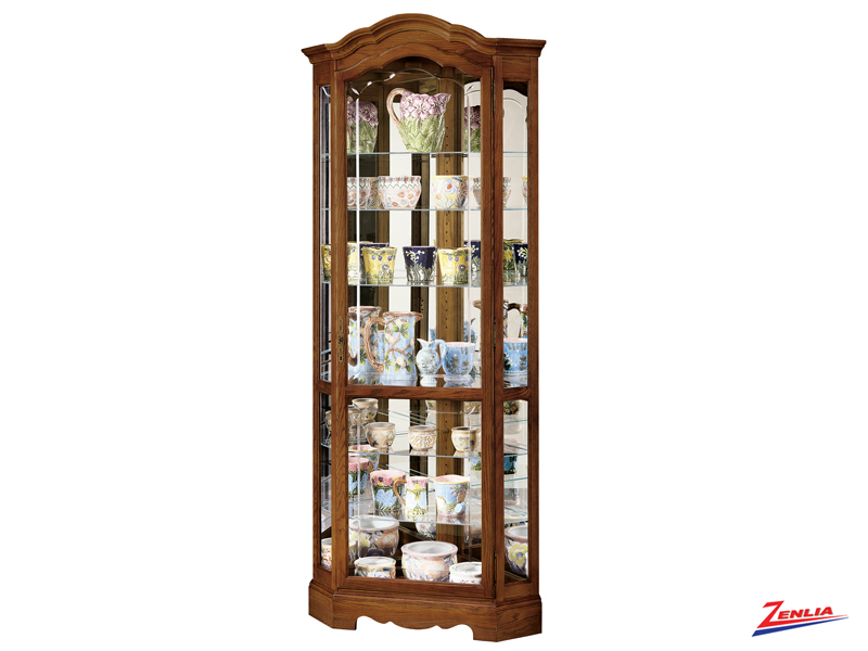 James 2 Oak Finish Curio