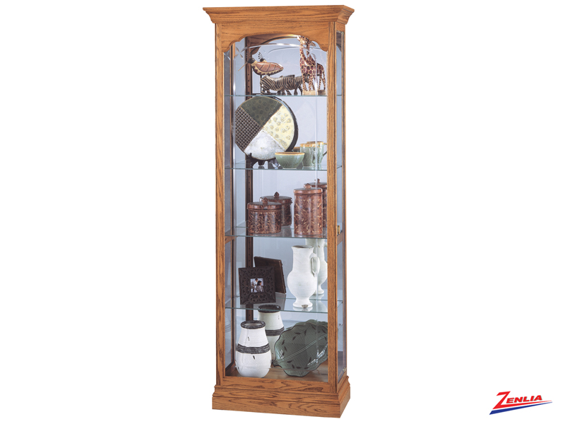 Torrin Golden Oak Curio