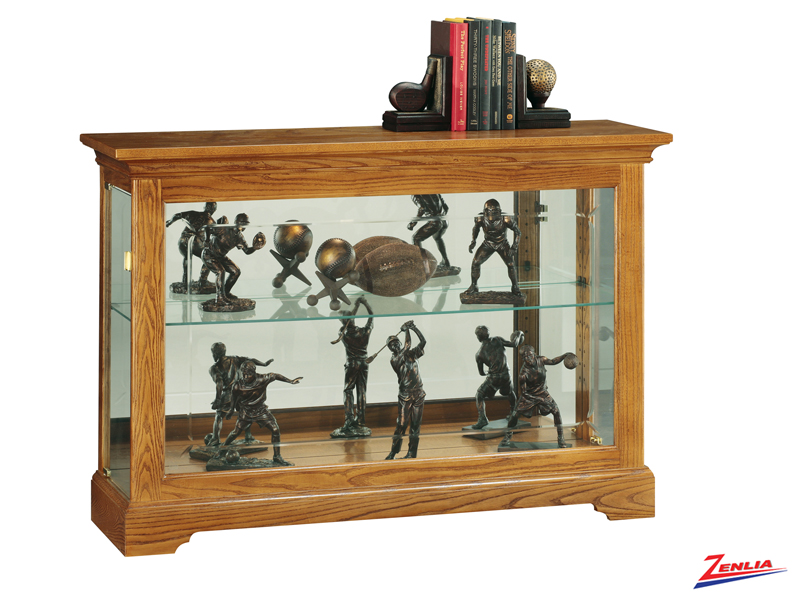 Burr Golden Oak Console Curio