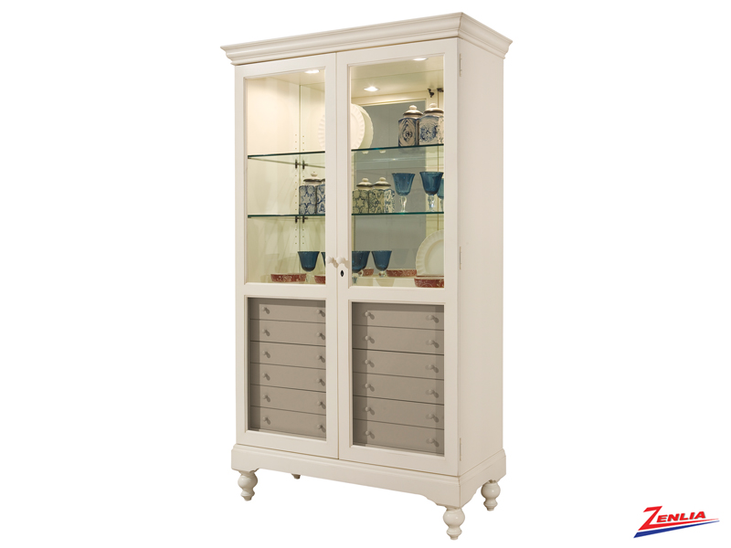 Hamp Antique Vanilla Finish Curio