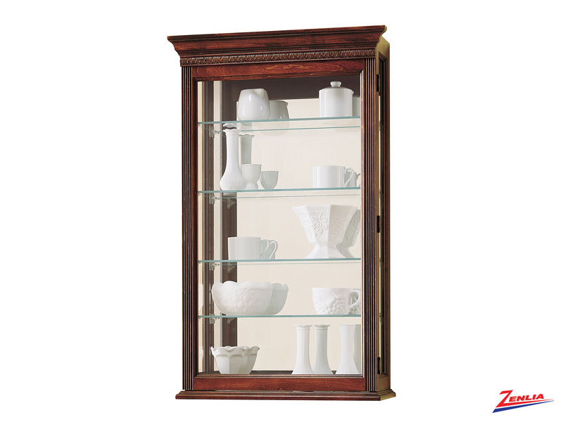 Edmon Cherry Finish Wall Curio