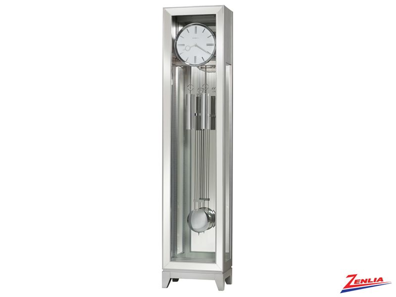 Blay Silver Finish Floor Clock