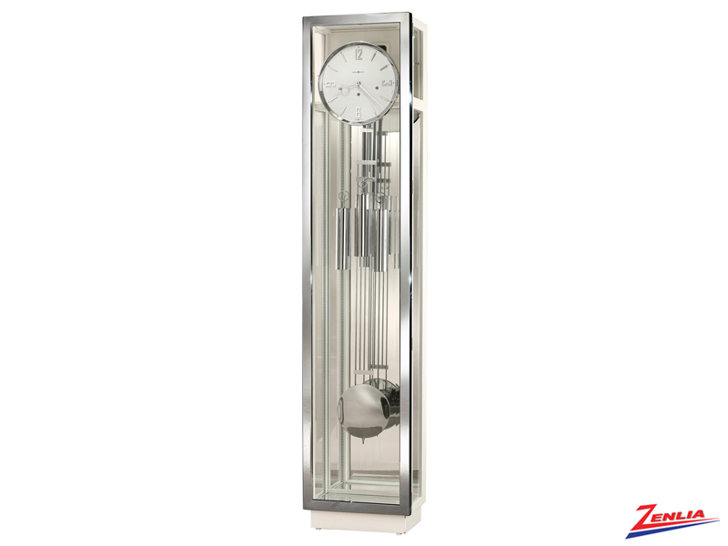 Quint 3 White Gloss Finish Floor Clock