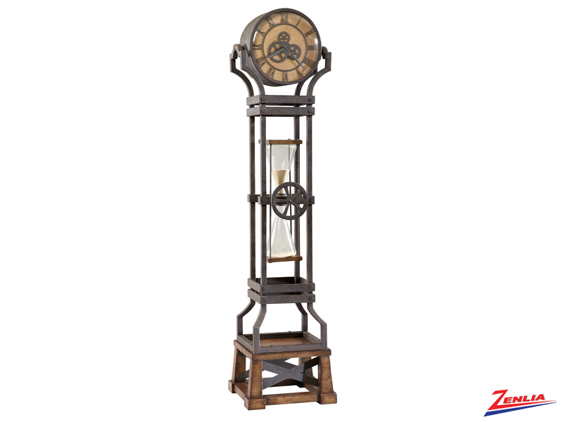 Hour Aged Iron Floor Clock