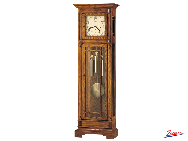 Green Heritage Oak Floor Clock