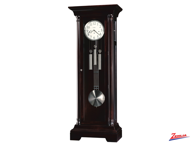 Sev Black Coffee Finish Floor Clock