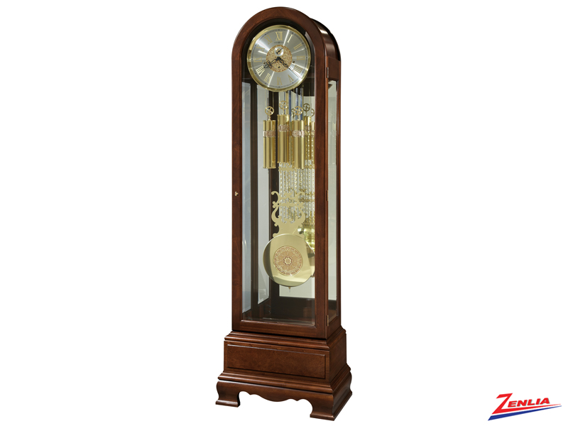 Jas Cherry Finish Floor Clock