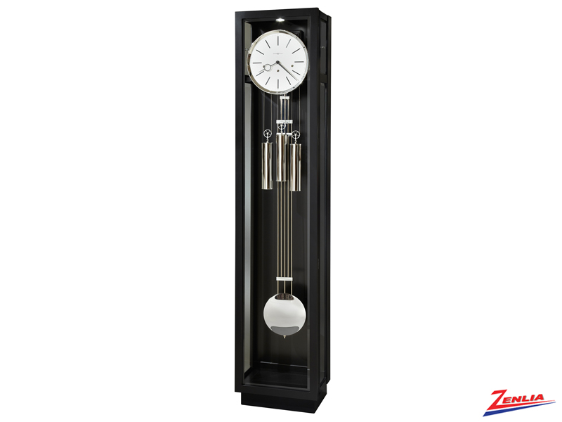 Came 3 Satin Black Finish Floor Clock
