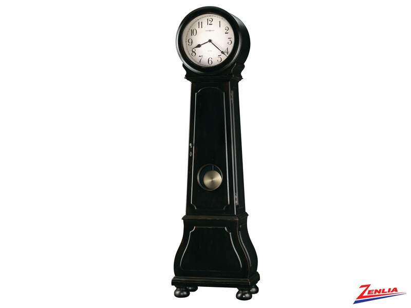 Nash Worn Black Finish Floor Clock