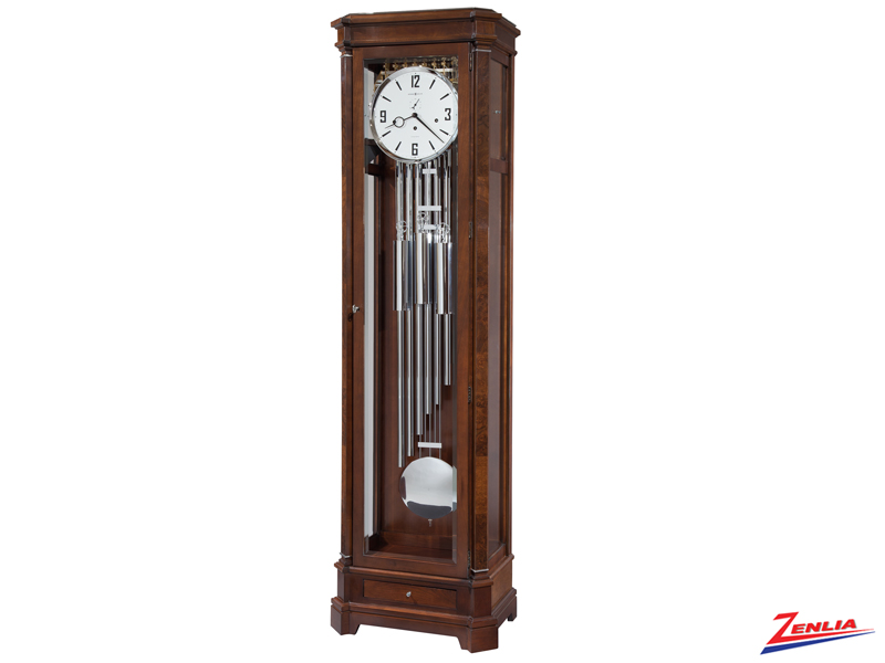 Harold @ Cherry Bordeaux Finish Floor Clock