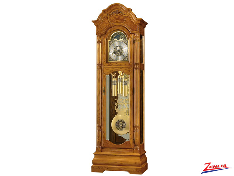 Scar Golden Oak Floor Clock