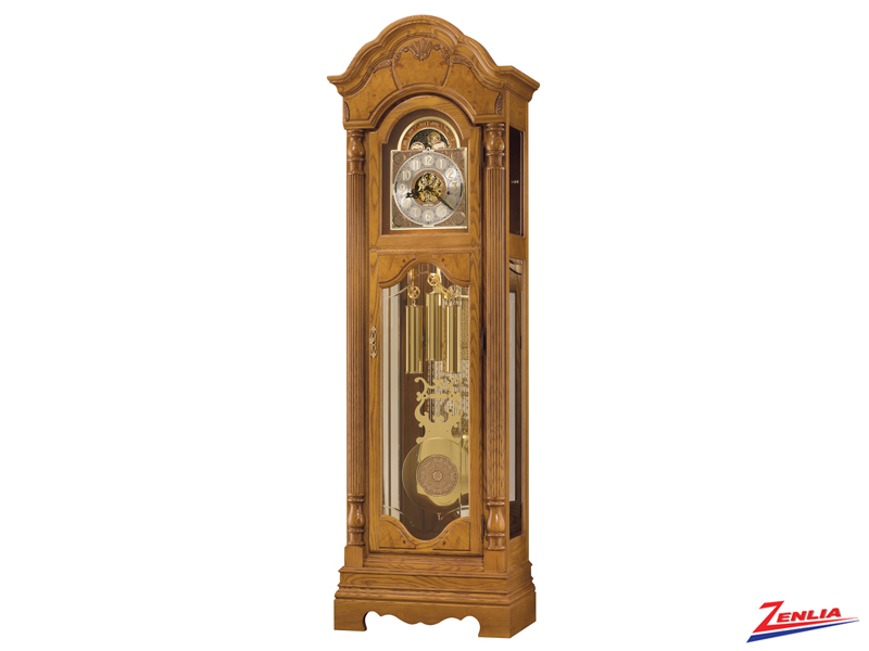Kins Golden Oak Floor Clock