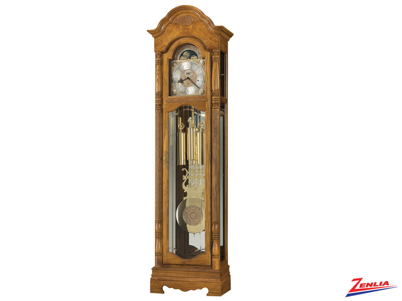 Brow Golden Oak Floor Clock