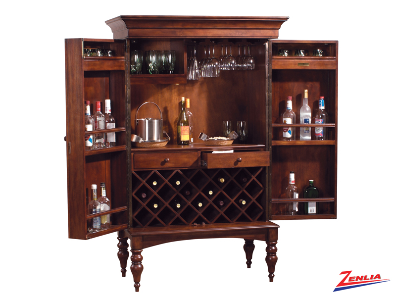 Cherry Hide A Bar Cabinet Wine Amp Bar Cabinets Bars