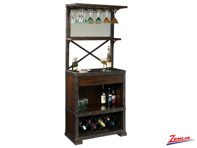 Rustic Wine & Bar Cabinet