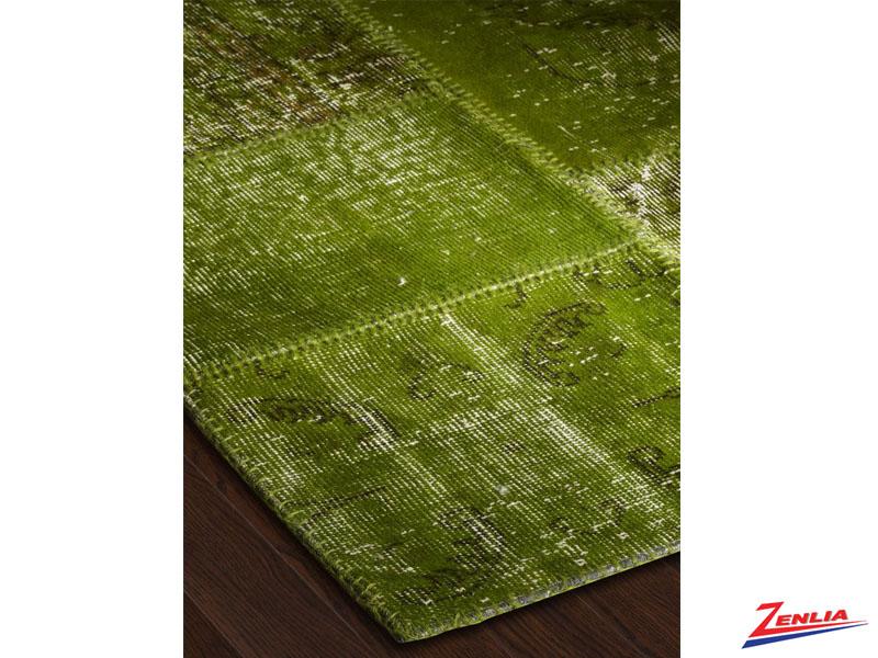 Antique Kilim Patchwork Green Rug
