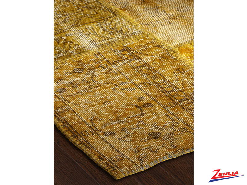 Antique Kilim Patchwork Yellow Rug