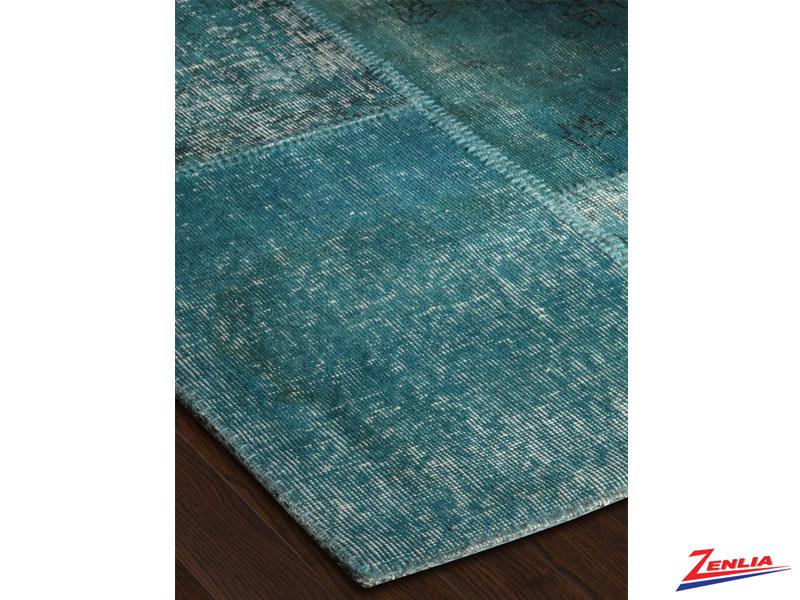 Antique Kilim Patchwork Turquoise Rug