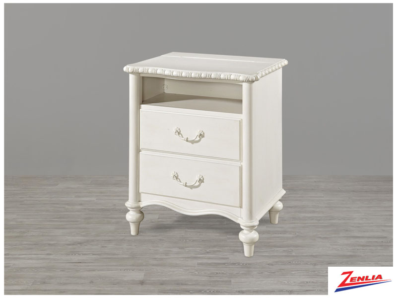 Bella Daisy White Night Stand