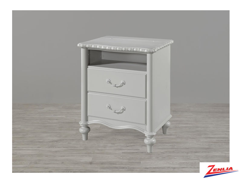 Bella Daisy Grey Night Stand