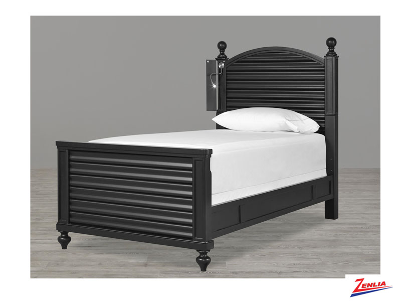 Black Reading Twin Bed