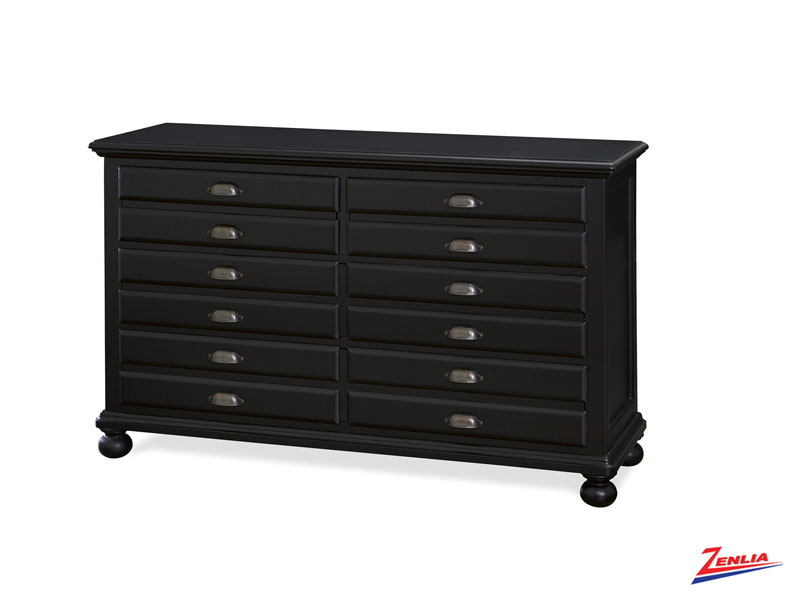 Black Map Drawer Dresser