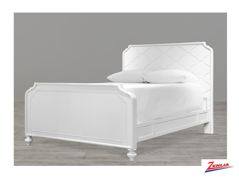 White Panel Full Bed