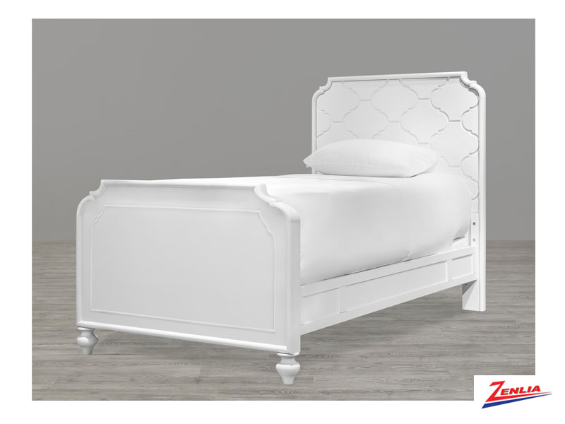 White Panel Twin Bed