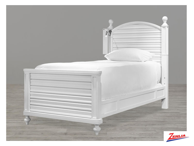 White Reading Twin Bed